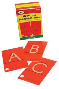 Didax Special Needs Fine Uppercase Tactile Sandpaper Letters, Gr PreK-1, Set of 26 Item Number 1413308