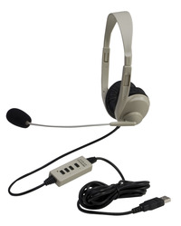 Califone 3064-USB Multimedia Stereo Headset with Microphone and USB Connection Item Number 1543839