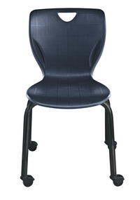 Classroom Select Contemporary Chair with Casters, 18 Inch A+ Seat Height, Black Frame, Various Options Item Number 1425583
