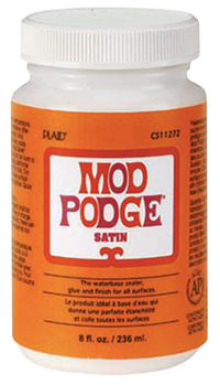 Mod Podge Sealer and Finish, Satin, 8 Ounce Jar Item Number 1426454