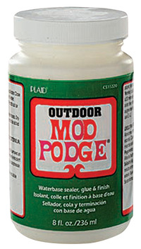Mod Podge Sealer and Finish, Outdoor, 8 Ounce Jar Item Number 1426455