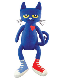 MerryMakers Pete the Cat Plush Doll, 14-1/2 Inches Item Number 1427420