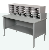 Marvel 25-Adjustable Slot Mail Sorter, 60 x 30 x 44 to 52 Inches, Various Options Item Number