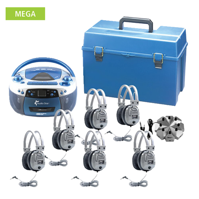 Listening Centers, Classroom Listening Center, Whisperphone Supplies, Item Number 1428506
