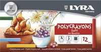 Lyra Polycrayons Soft Pastels Sticks, Assorted Colors, Set of 12 Item Number 1430637