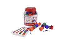 Childcraft Manipulative Jumbo Lacing Beads, Assorted Colors, Set of 58 Item Number 1435224