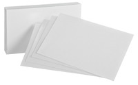 5x8 Blank Index Cards, Item Number 1437858