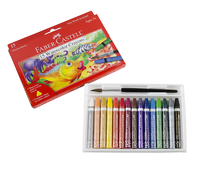 Faber-Castell Watercolor Crayon, Assorted Color, Set of 15 Item Number 1438848