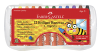 Faber-Castell Jumbo Triangular Beeswax Crayon, Assorted Colors, Set of 12 Item Number 1438849
