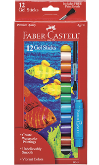 Faber-Castell Gel Sticks, Assorted Colors, Set of 12 Item Number 1438853