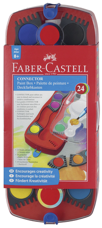 Faber-Castell 24 Color Connector Paint Box Item Number 1438858