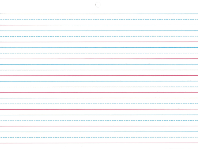 Lined Paper, Primary Ruled Paper, Item Number 1439075