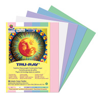 Tru-Ray Sulphite Construction Paper, 9 x 12 Inches, Pastel Colors, 50 Sheets Item Number 1439761
