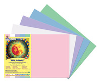 Tru-Ray Sulphite Construction Paper, 12 x 18 Inches, Pastel Colors, Pack of 50 Item Number 1439762