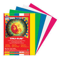 Tru-Ray Sulphite Construction Paper, 9 x 12 Inches, Primary Colors, 50 Sheets Item Number 1439763