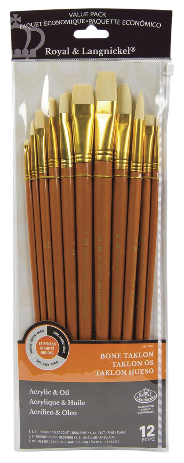 long wooden handle 12 Long flat synthetic