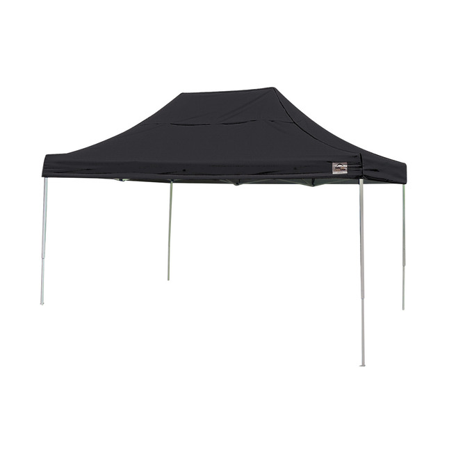 lowest price cd681 22738 ShelterLogic Pro Pop-Up Canopy with Roller Bag, 10 X 15 ft, Steel, Black  Cover