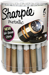 Sharpie Metallic Permanent Markers, Fine Tip, Assorted Colors, Pack of 36 Item Number 1440657