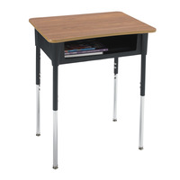 Classroom Select Contemporary A+ Open Front Desk, 20 x 26 Inch Laminate Top, Various Options Item Number 1441883