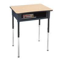 Classroom Select Contemporary A+ Open Front Desk, 20 x 26 Inch Laminate Top, LockEdge Various Colors Item Number 1441884
