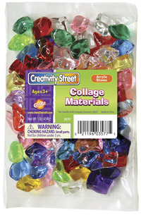 Creativity Street Assorted Shape Acrylic Stone, 1 in, Assorted Color, 1 lb Bag Item Number 1442755