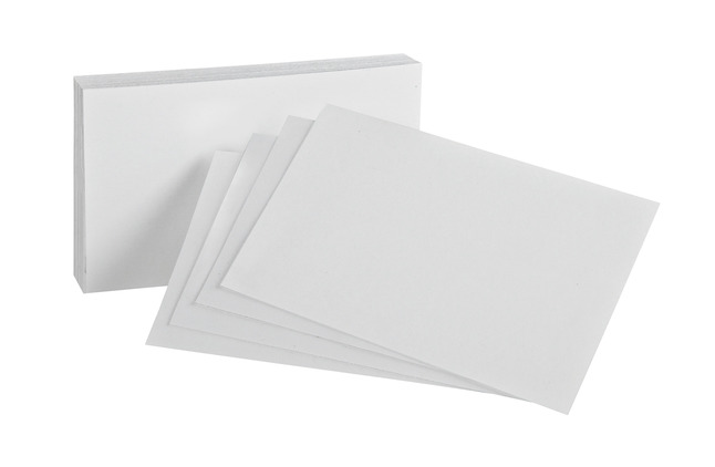 4x6 Blank Index Cards, Item Number 1443129