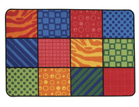 Carpets for Kids Value Line Patterns at Play Rug, 4 x 6 Feet, Rectangle Item Number 1457506