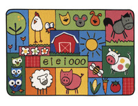 Carpets for Kids Value Line Old MacDonald's Farm Rug, 4 x 6 Feet, Rectangle Item Number 1457509
