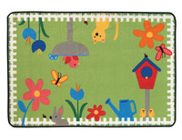 Carpets for Kids Value Line Garden time Rug, 4 x 6 Feet, Rectangle Item Number 1457512
