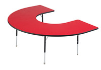 Classroom Select Adjustable Activity Table, Horseshoe, 48 x 72 Inches, LockEdge, Various Options Item Number 1457640