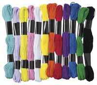 Creativity Street Non-Toxic Embroidery Thread, 8 yd, Assorted Color, Set of 24 Item Number 1458531