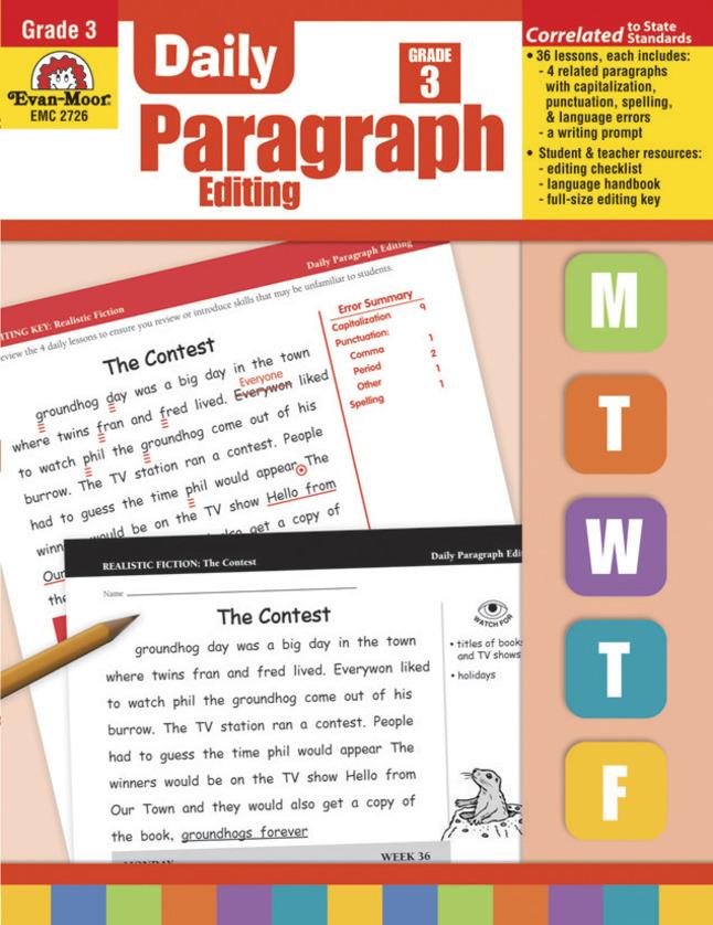 Evan-Moor Daily Paragraph Editing, Grade 3