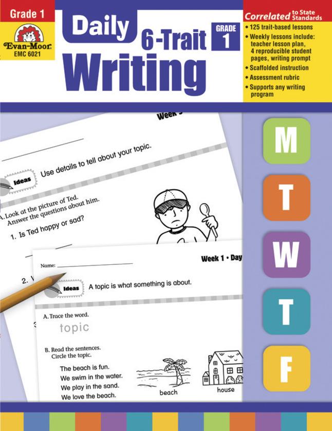 Evan-Moor Daily 6-Trait Writing, Grade 1