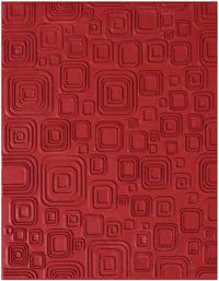 Mayco Rubber Retro Squares Designer-Texture Mat, 7 X 9 in Item Number 1464335