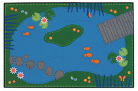 Carpets for Kids Value Line Tranquil Pond Rug, 4 x 6 Feet, Rectangle Item Number 1464903