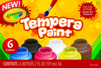 Crayola Tempera Paint Set, Assorted Color, 2 Ounce, Set of 6 Item Number 1465260
