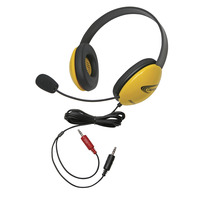Califone 2800YL-AV Listening First Headset with Dual Plugs, Yellow Item Number 1465271