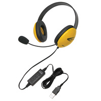 Califone 2800YL-USB Listening First Headset, Yellow Item Number 1465272