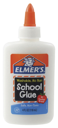 Elmer's Washable No Run School Glue, 1.25 Ounces, White and Dries Clear, Pack of 12 Item Number 1465833