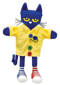 MerryMakers Pete the Cat and His Four Groovy Buttons Puppet, 14-1/2 Inches Item Number 1466214