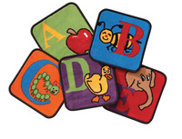 Carpets for Kids Reading by the Book Carpet Squares, 12 Inches, Set of 26 Item Number 1467812