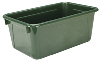 School Smart Tote Tray, 12 x 8 x 5 Inches, Forest Item Number 1468449