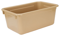 School Smart Tote Tray, 12 x 8 x 5 Inches, Sand Item Number 1468452