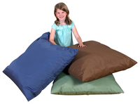 Children's Factory Pillow Set, 27 x 27 x 8 Inches, Dark Woodland Colors, Set of 3 Item Number 1468855