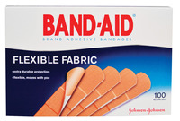 Bandaid Flexible Band-Aid, 3/4 X 3 inches, Fabric, Pack of 100 Item Number 1469083