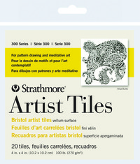 Strathmore Bristol Artist Tiles, 4 x 4 Inches, 100 lb, 20 Sheets Item Number 1472482