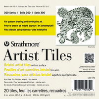 Strathmore Bristol Artist Tiles, 6 x 6 Inches, 100 lb, 20 Sheets Item Number 1472483