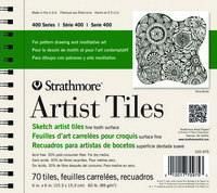 Strathmore White Artist Tiles, 6 x 6 Inches, 60 lb, 30 Sheets Item Number 1472487