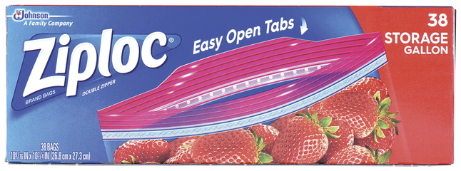Ziploc Double Zipper Storage Bags 1 Gallon Clear Pack Of 38