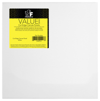 Fredrix Value Series Cut Edge Canvas Panel, 12 Inch Square, White, Pack of 25 Item Number 1473565